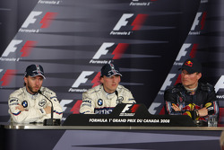 Press conference: race winner Robert Kubica with Nick Heidfeld and David Coulthard