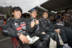 Toshio Suzuki, Masami Kageyama and Haruki Kurosawa