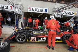 Pit stop for #26 Team Bruichladdich Radical Radical SR9 AER: Ben Devlin, Marc Rostan, Gunnar Jeannette