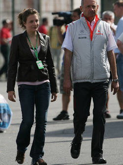 Ron Dennis, McLaren, Team Principal, Chairman and his daughter