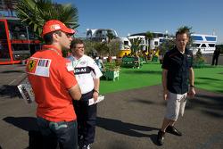 Marc Gene, Test driver Ferrari, and Sébastien Bourdais, Scuderia Toro Rosso