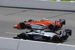 Marco Andretti and Jaime Camara running together
