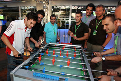 Giancarlo Fisichella, Force India F1 Team playing table football