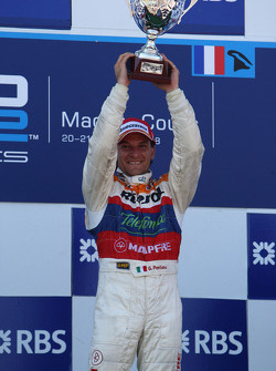 Podium: race winner Giorgio Pantano celebrates