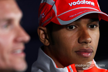 FIA press conference: David Coulthard, Red Bull Racing, Lewis Hamilton, McLaren Mercedes