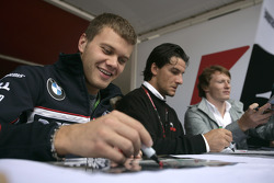 Marko Asmer, Giorgio Pantano and Mike Conway