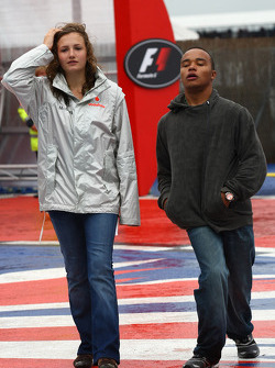 Anthony Hamilton, Father of Lewis Hamilton with the daughter of Ron Dennis, McLaren, Team Principal, Chairman