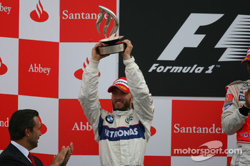 Podium: second place Nick Heidfeld