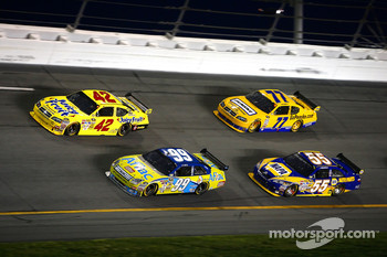 Carl Edwards, Juan Pablo Montoya, Michael Waltrip and Sam Hornish Jr.