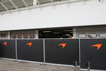 Fences in front of  McLaren Mercedes