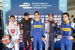 Top qualifiers: Loic Duval, Dragon Racing, Stéphane Sarrazin, Venturi, polesitter Sébastien Buemi, Renault e.Dams Antonio Felix da Costa, Team Aguri, Nicolas Prost, Renault e.Dams