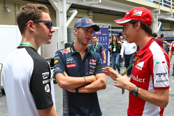 (L to R): Stoffel Vandoorne, McLaren Test and Reserve Driver with Pierre Gasly, Red Bull Racing Test Driver and Esteban Gutierrez, Ferrari Test and Reserve Driver