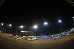 Dale Earnhardt Jr., Hendrick Motorsports Chevrolet leads Kevin Harvick, Stewart-Haas Racing Chevrolet to a red flag for rain