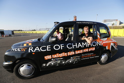 David Coulthard in a London taxi