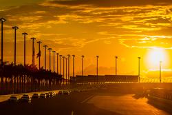 Rennaction bei Sonnenuntergang