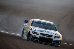 Casey Mears, Germain Racing Chevrolet crashes