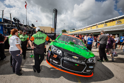 Car of Danica Patrick, Stewart-Haas Racing Chevrolet in the technical inspection line