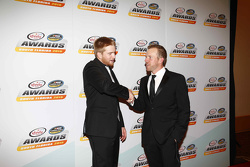2015 Xfinity Series champion Chris Buescher with Regan Smith