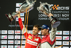 Winner Sebastian Vettel, second place Tom Kristensen