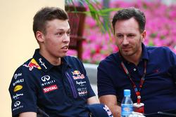 Daniil Kvyat, Red Bull Racing with Christian Horner, Red Bull Racing Team Principal