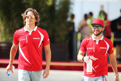 (L to R): Roberto Merhi, Manor Marussia F1 Team with team mate Will Stevens, Manor Marussia F1 Team