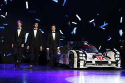 2015 WEC champions Mark Webber, Brendon Hartley, Timo Bernhard, Porsche Team