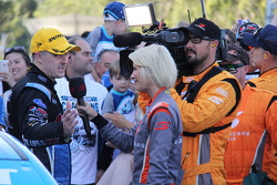 2015 V8 Supercars Champion Mark Winterbottom, Prodrive Racing Australia Ford with the media