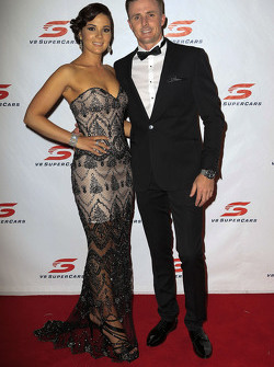 Mark Winterbottom, Prodrive Racing Australia Ford with his wife Renée Winterbottom