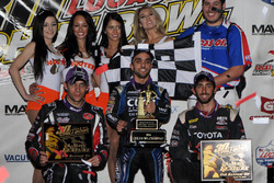 Podium: winner Rico Abreu, second place Bryan Clauson, third place Daryn Pittman