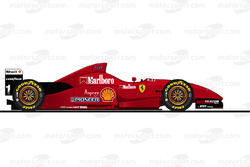 The Ferrari F310 driven by Michael Schumacher in 1996