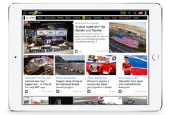 Screen shot of Motorsport.com USA edition