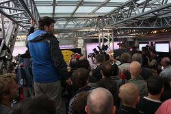 Crowded Red Bull Energy Station
