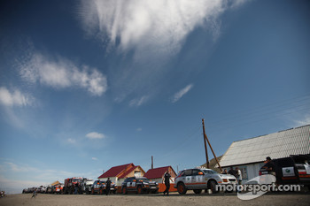 Cars at the Russian-Mongolian border