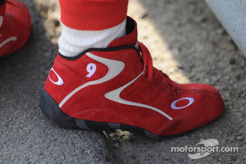 Scott Dixon's shoes