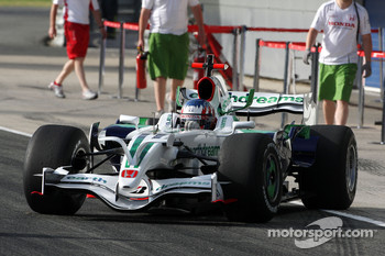 Alexander Wurz, Test Driver, Honda Racing F1 Team, on slick tyres