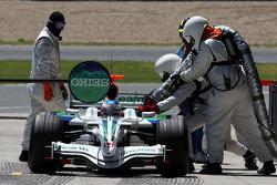 Jenson Button, Honda Racing F1 Team, RA108, pitstop
