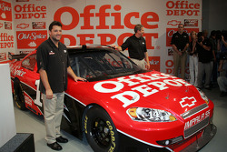 Tony Stewart and the #14 Office Depot Car