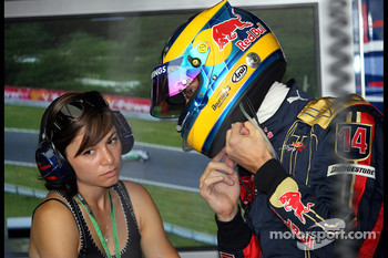 Sébastien Bourdais, Scuderia Toro Rosso and his wife Claire