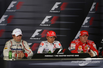 Press conference: race winner Heikki Kovalainen, second place Timo Glock, third place Kimi Raikkonen