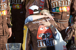 Victory lane: race winner Kyle Busch celebrates with his mom