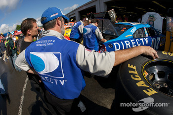 DirecTV Chevy crew members at work