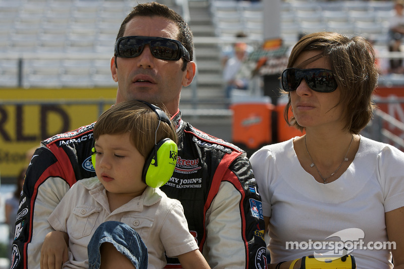 Max Papis with wife Tatiana and son Marco