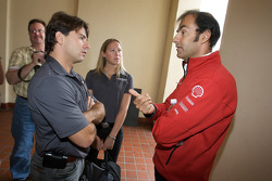 Detroit Grand Prix media lunch at the Detroit Yacht Club: Oriol Servia and Emanuele Pirro