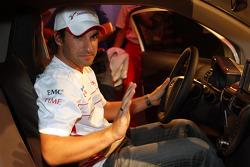Timo Glock, Toyota F1 Team in a Toyota IQ