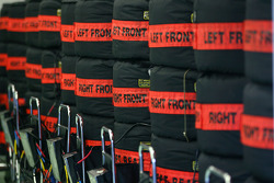 Spare Renault F1 Team tyres