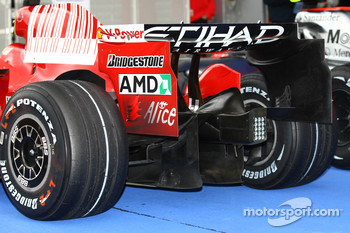 The Rear wing and diffuser of the of the Scuderia Ferrari, F2008