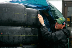 Rain delays activities at the Richmond International Raceway