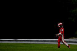 Kimi Raikkonen, Scuderia Ferrari, F2008, crashed
