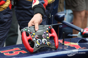 Sebastian Vettel, Scuderia Toro Rosso, steering wheel