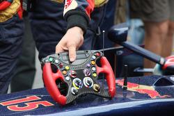 Sebastian Vettel, Scuderia Toro Rosso, steering wheel